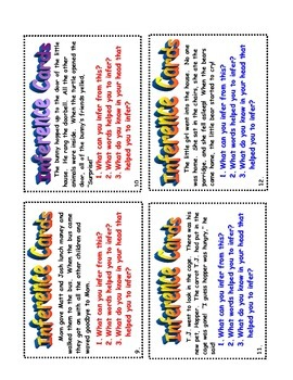 Inference Task Card Set