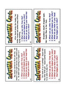 Inference Task Card Set