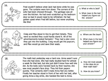 Inference Task Card Strips