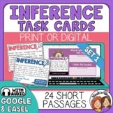 Inference Task Cards: Short passage task cards for making