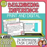 Making Inferences Task Cards and Easel Activity for Grades 1-2.