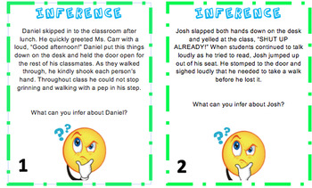 Reading Inference Task Cards