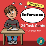 Inference Task Cards - 24 Cards (CCSS R.L.4.1,)
