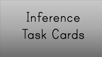 Tutoring- Inference Task Cards
