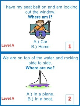 Inference Task Card Bundle - What?,Why?,Where? - 216 Task Cards