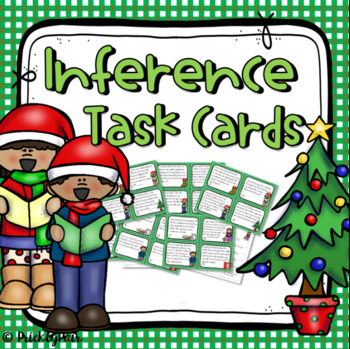 Inference Task Cards -Christmas theme