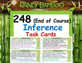 Inference Task Cards (End of Course) (248 Cards)
