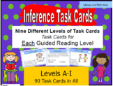 Inference Task Cards For Each Guided Reading Level (Levels A - I)