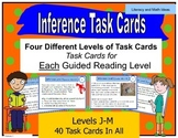 Inference Task Cards For Each Guided Reading Level (Levels J,K,L and M)
