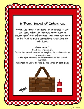 Inference Task Cards - Going on a Picnic