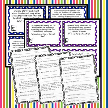 Inference Task Cards and *NO PREP* Worksheets