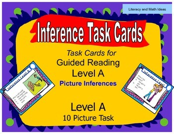 Inference Task Cards (Guided Reading Level A)