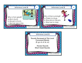Inference Task Cards (Guided Reading Level B)