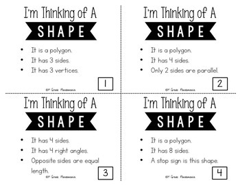 Inference Task Cards~I'm Thinking of a Shape