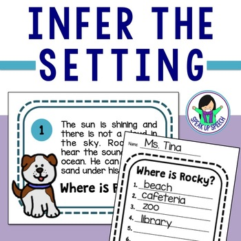 Inference Task Cards - Infer the Setting