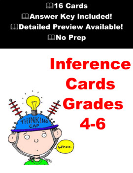 Inference Task Cards - Inference Reading Strategy