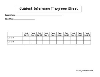 Inference Task Cards Lexile/Guided Reading Levels 867-933 (Levels V,W)