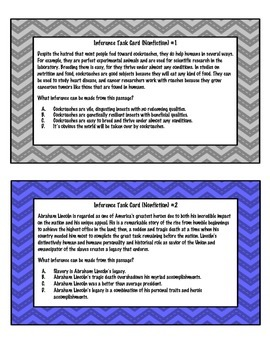 Inference Task Cards - Nonfiction