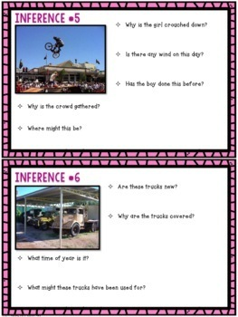 Inference Task Cards { Inferencing Reading Skill }