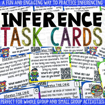 Inference Task Cards {Making Inferences Game} with QR Codes