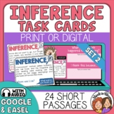 Inference Task Cards - Inferencing Reading Strategy Set 2