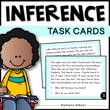 Inference Task Cards Scenarios for Reading Comprehension