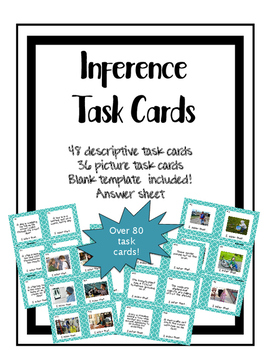 Inference Task Cards Science Skills