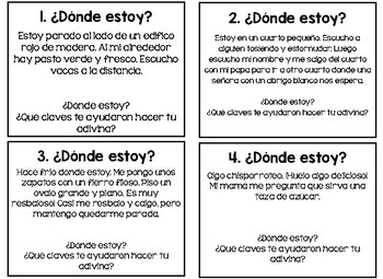 Spanish Inference Task Cards/Tarjetas de inferencia