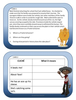 Inferences Task Cards - Thinking Caps