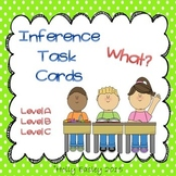 Inference Task Cards-What?-3 Levels-for Autism, Special Ed