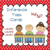 Inference Task Cards-Why?-3 Levels-for Autism,Special Ed.