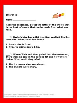 Inference Activities Task Cards