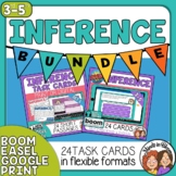 Inference Task Cards and Digital Boom Cards Bundle Distanc