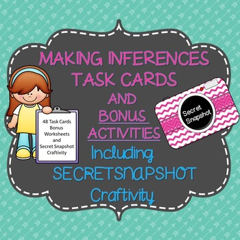 Inference Task Cards or Scoot with Bonus Craftivity and Inference Printables