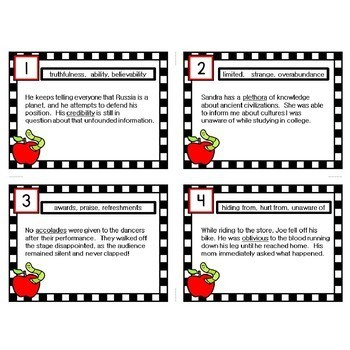 Inference Task Cards with Context Clues #5