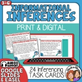 Making Inferences with Informational Text Task Cards with