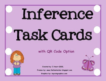 Inference Task Cards with QR Code Option