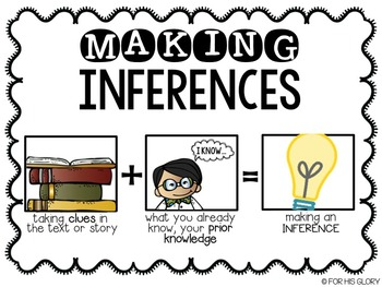 Inference Task Cards with QR Codes {POSTER included!}