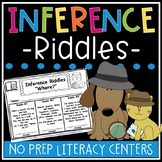 Inference Riddles Worksheets - Inference Activity Bundle