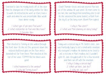 Inference Text Task Cards - Differentiated - Guided Reading - BUNDLE