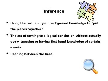 Inference, Theme, and Characterization PP w/ activities