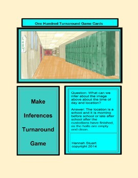 Inference Turnabout Game Cards