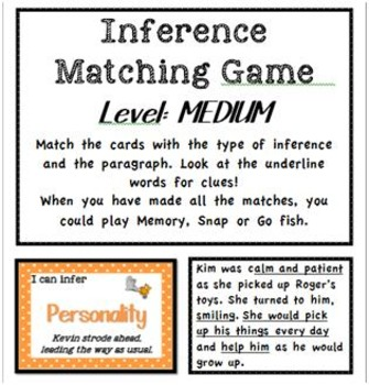Inference Types - Matching Games