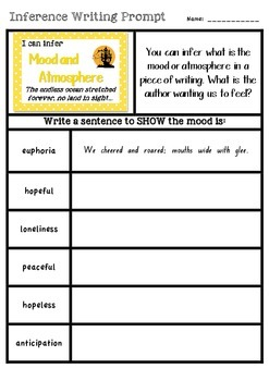 Inference Types - Writing Prompts