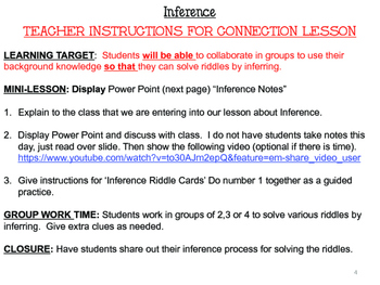 Inference Unit - Reading Comprehension Skills for Middle School Special Ed