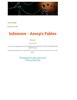 Inference Using Aesop's Fables - part 2