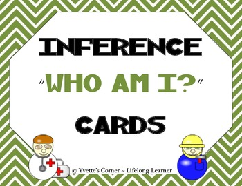 "Inference ""Who am I?"" Task Cards"