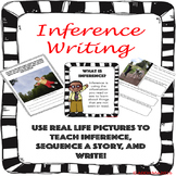Inference Writing with pictures and graphic organizers
