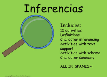 Inference activities Inferencias sobre Personajes