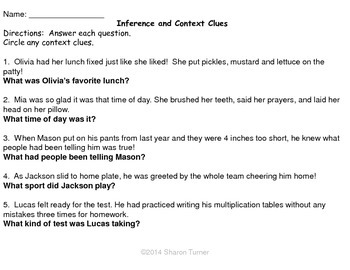 Inference:  Task Cards AND Test